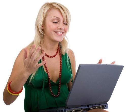 Девушка на сайте знакомств